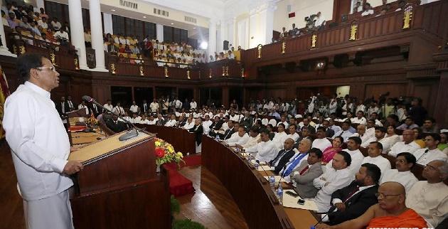 maithri-at-parliament